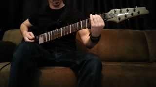 meshuggah demiurge guitar cover