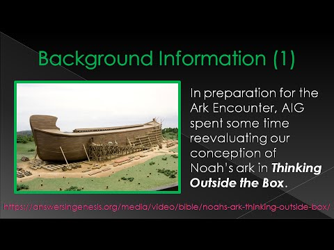 Creation, the Flood, & Other OT Events: Thinking Outside the Box