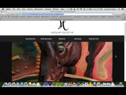 Adobe Muse CC Tutorial | Scrolling Sticky Navigation