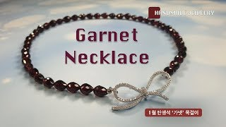 Handmade Fashion Jewelry | Garnet necklace | Fashion accesso…