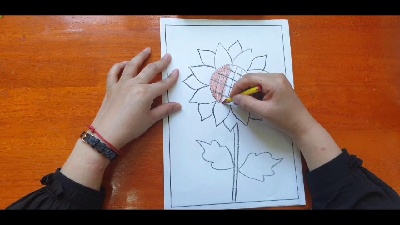 Tạo hình: Vẽ hoa Hướng Dương