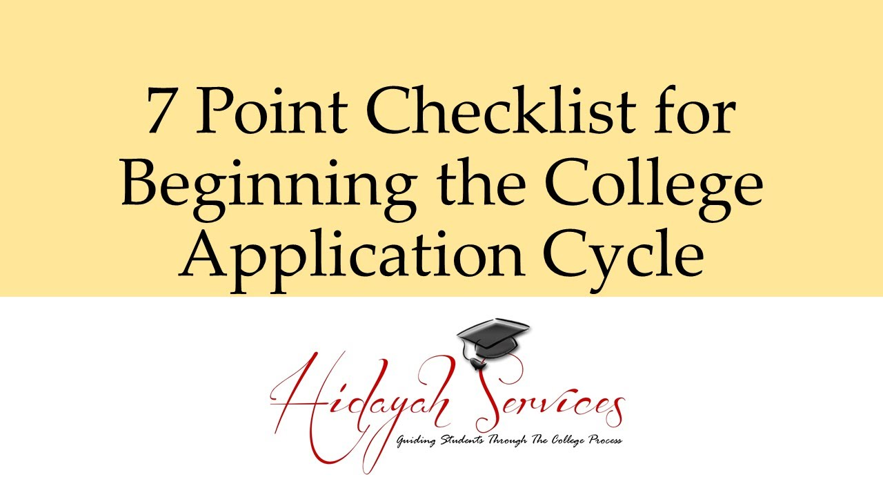 Checklist for applying to college?