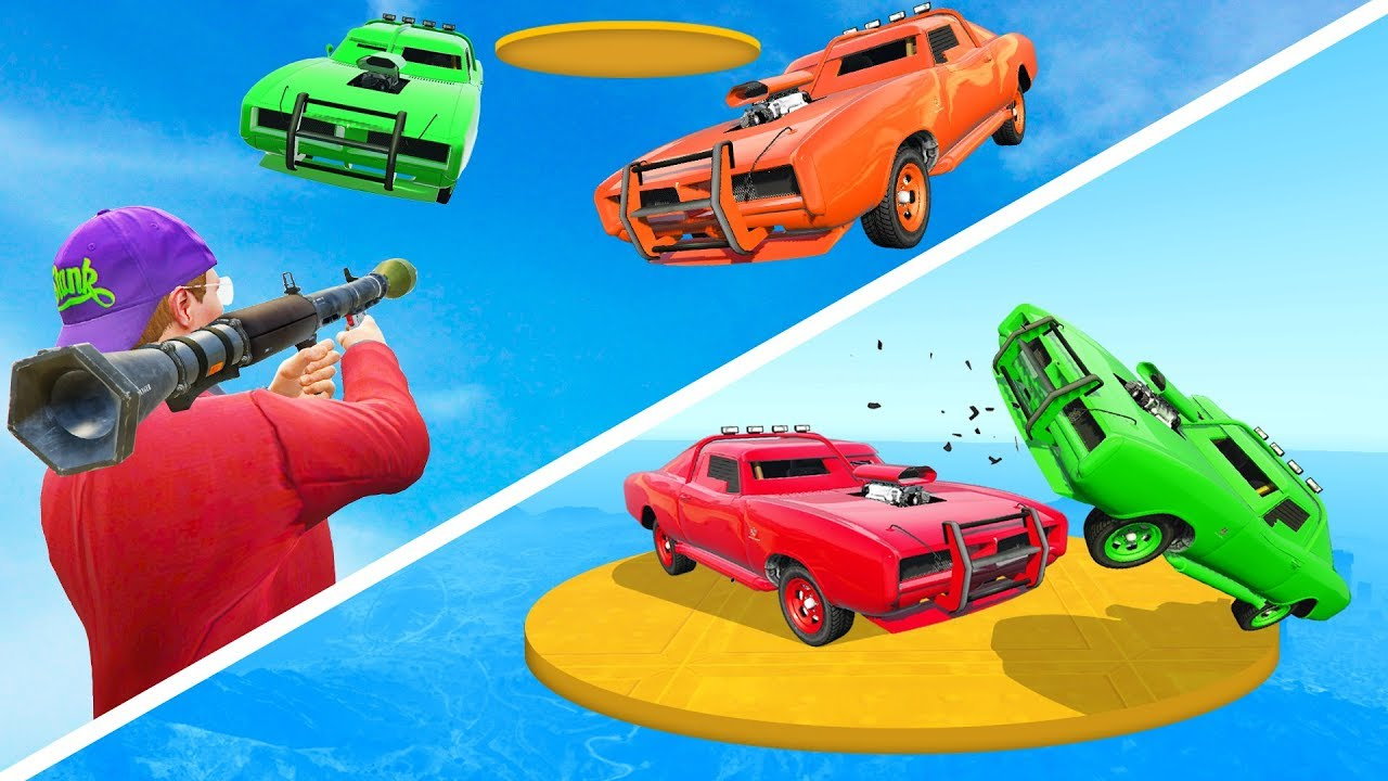 RPG vs Cars  Sumo Derby  EPIC BATTLE  GTA 5 Funny