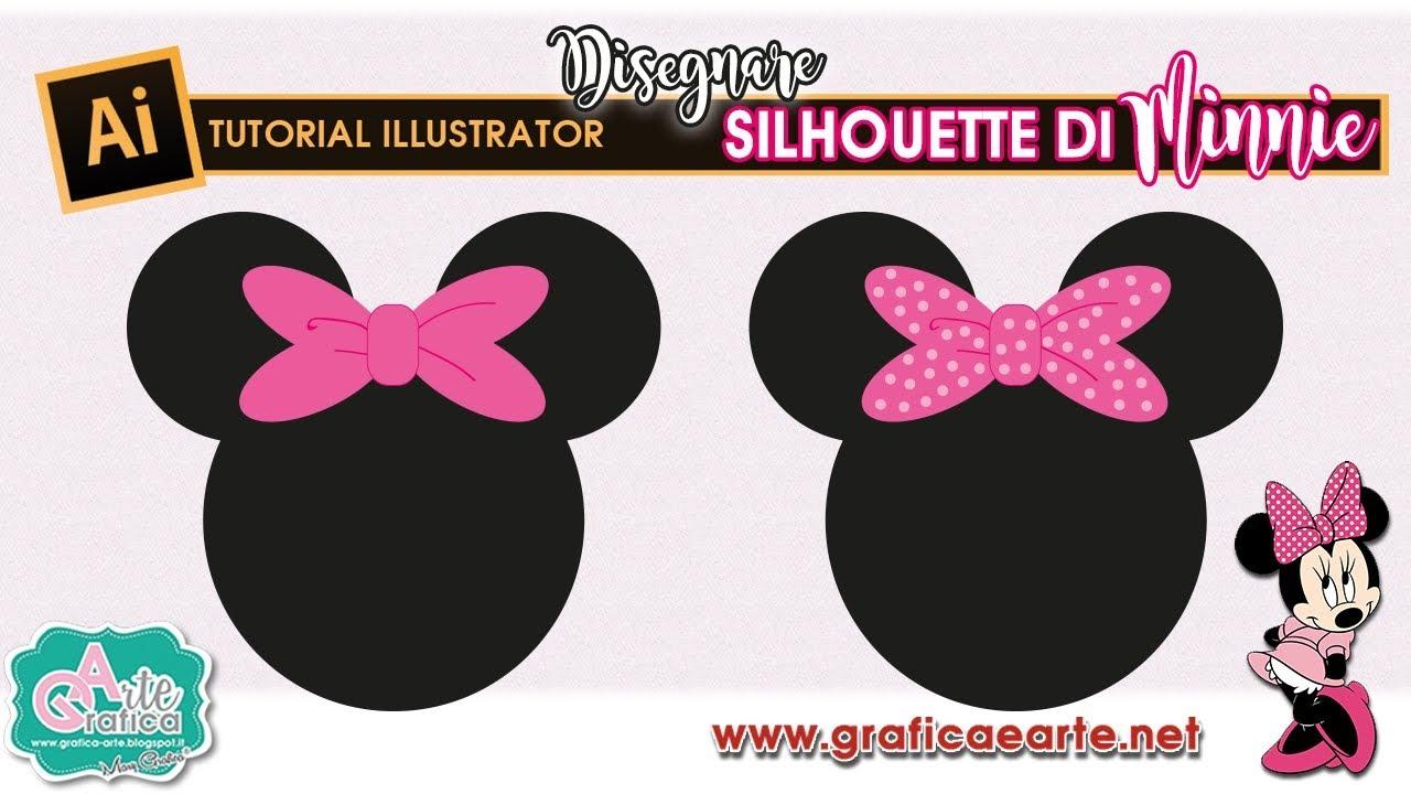 Come Disegnare La Silhouette Di Minnie Digitale Tut Illustrator