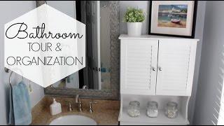 Small Bathroom Organization & Tour | CHEAP IDEAS!