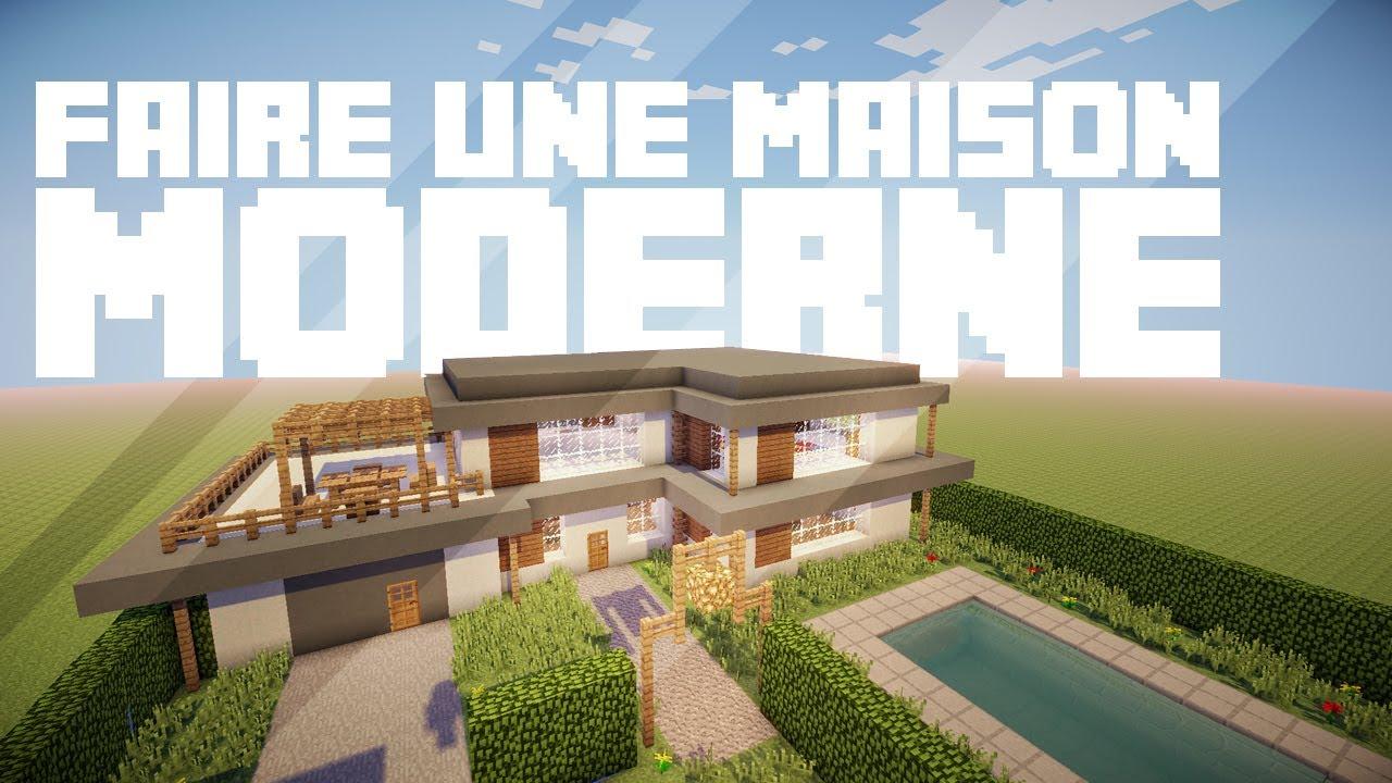 Faire une maison Moderne dans Minecraft - YouTube