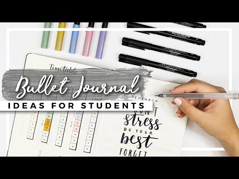 bullet-journal-ideas-for-students!-back-to-school-planning!
