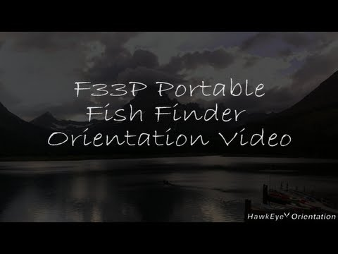 HawkEye® F33P Portable Fish Finder Product Orientation Video
