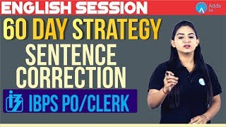 60 Days Strategy Plan | Sentence Correction | English | Anchal Ma'am | 10 A.M.
