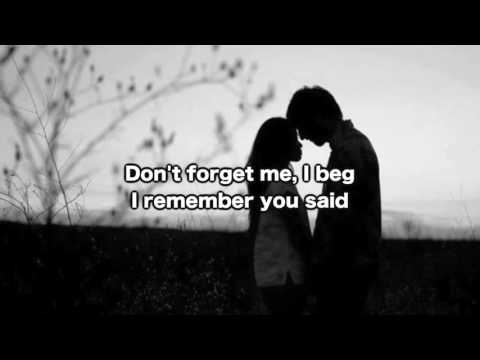 Witt Lowry - Don't Forget Me (lyrics on screen)