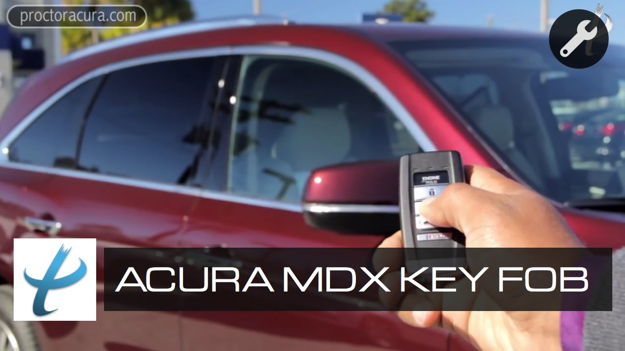 Acura MDX Smart Key Fob Remote Engine Start Power Tailgate - 2018 acura mdx remote start