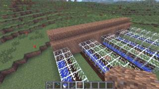 Automatic Melon Pumpkin Farm Minecraft Tutorial (Works in 1.8)