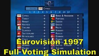 Eurovision 1997- Full Voting Simulation