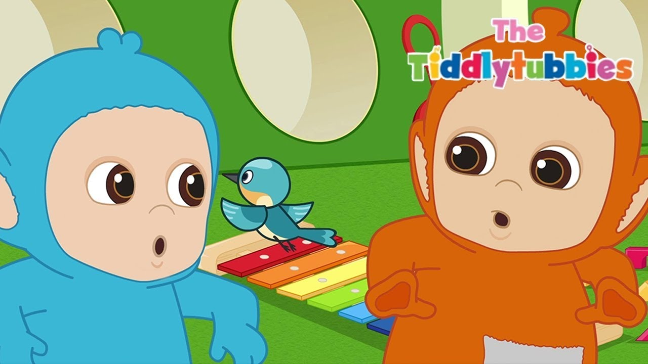 Teletubbies ★ NEW Tiddlytubbies Season 2! ★ Episode 4:  Bird Flies Through The Window! ★ Cartoon