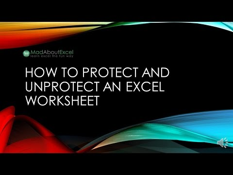 How To Protect And Unprotect An Excel Worksheet from YouTube · Duration:  3 minutes 18 seconds