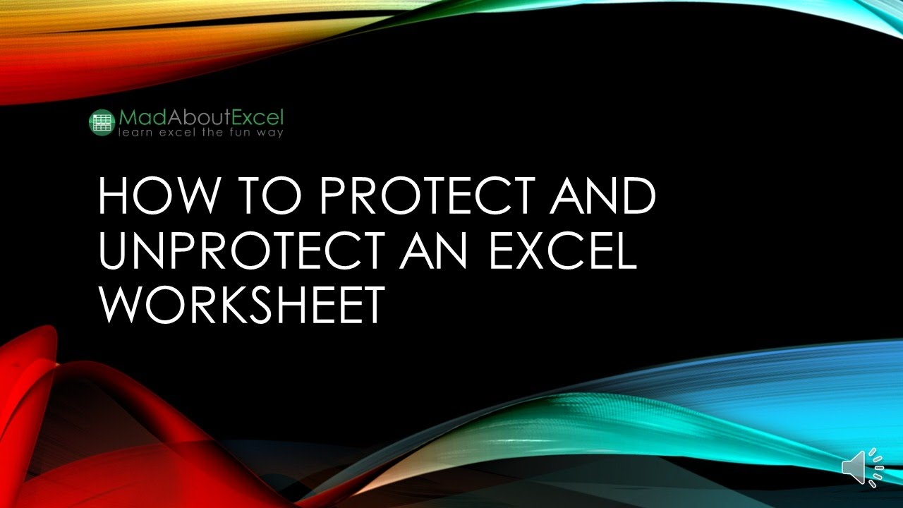 How To Protect And Unprotect An Excel Worksheet YouTube – Unprotect Excel Worksheet