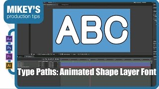 Type Paths - Animated shape layer font