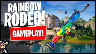 *NEW* RAINBOW RODEO Animated Wrap Gameplay! Before You Buy (Fortnite Battle Royale)
