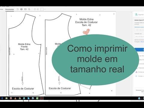 Como imprimir molde em tamanho real - PDF - YouTube 71a18fe934b