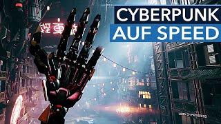Cyberpunk 2077 hat Wall-Running gestrichen, bei Ghostrunner ist es noch drin und richtig cool!