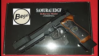 WE M92 Barry Burton / Samurai Edge / 6mm GBB / Holzoptik / Review / Schusstest / deutsch / german