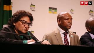 The former Premier of the North West Supra Mahumapelo resigns during a press briefing at Luthuli House. He however blamed so called counter-revolutionaries for destabilizing the North West province. Mahumapelo said he will remain in the ANC.   Produced by: IHSAAN HAFFEJEEE
