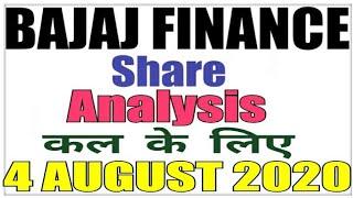 AUGUST 4 Bajaj Finance Stock Analysis Bajaj Finance Share BAJAJ FINANCE SHARE LATEST NEWS intraday