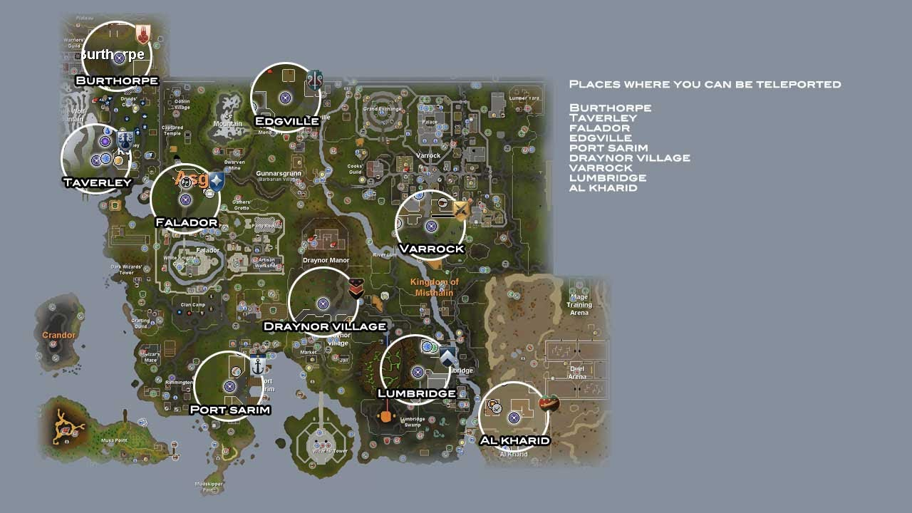Runescape 3 Guide To Activate And Use Lodestones   All Lodestones For F2p  Included On A Map.