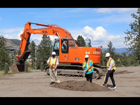 First shovel in the ground for new skatepark in West Kelowna earmarks the start of construction at the City Hall/Library Building site