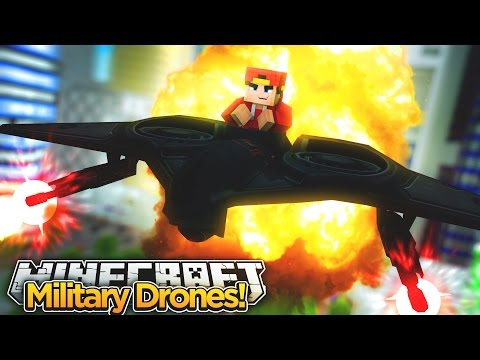 Minecraft Adventure - TESTING NEW DRONES FOR THE MILITARY!!