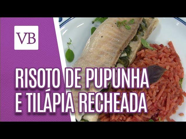 Risoto de pupunha e Tilápia recheada - Você Bonita (11/03/19)