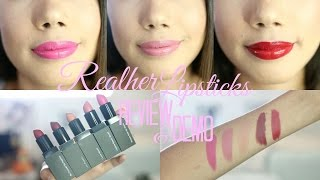 HONEST REVIEW RealHer MOISTURIZING LIPSTICKS SWATCHES AND REVIEW