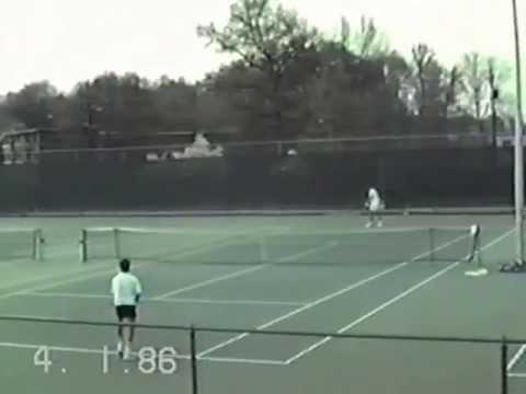 Georgia Tech Men's Tennis vs Clemson April 1986; Chris Maier vs Brian Page