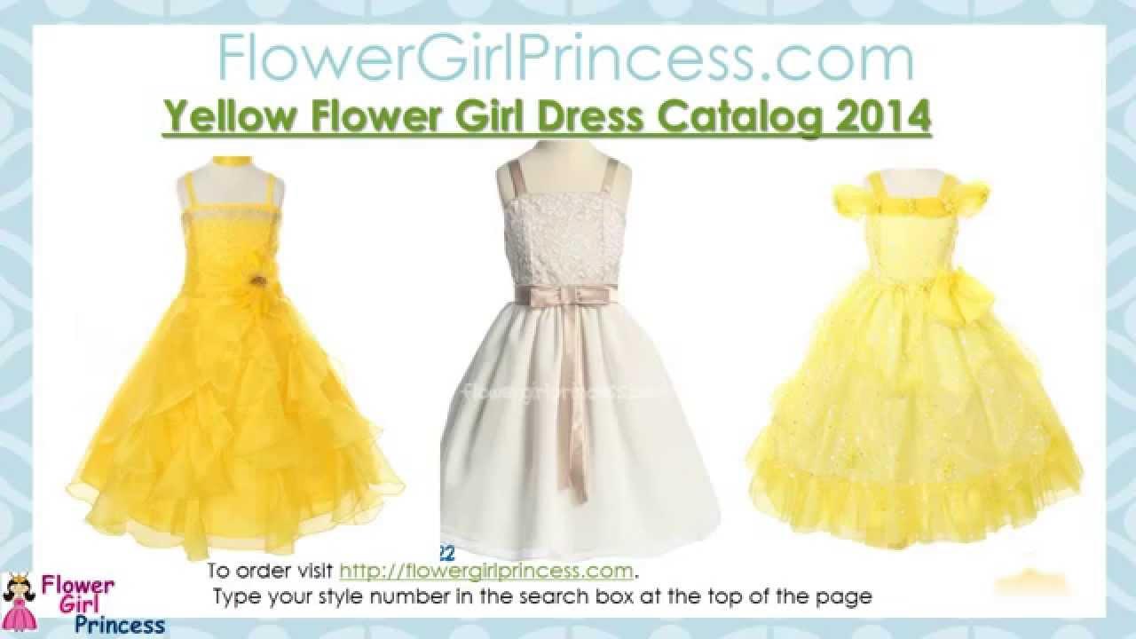 Yellow And Gold Flower Girl Dress Catalog At Flowergirlprincess
