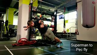 TRX Superman to Pec Fly