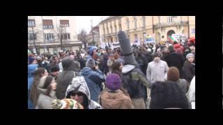 протест срещу шистовия газ 14.1.2012 пред парламента хляб
