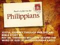 Tamil Christian Message - Philippians 1 of 4 - Joyful Journey in Christ - Rev Dr. Theodore Williams