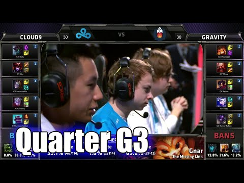 Cloud 9 vs Gravity | Game 3 Quarter Finals S5 NA LCS Regional Qualifier for Worlds | C9 vs GV G3 QF