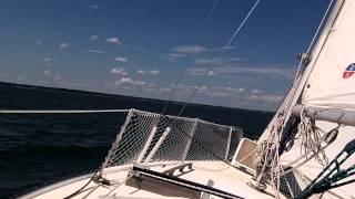 Sailing close hauled toward Urbanna Creek on the Rappahannock River