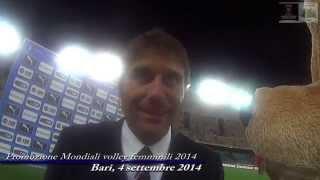04-09-2014: Mondiali femminili di volley con la nazionale italiana di calcio