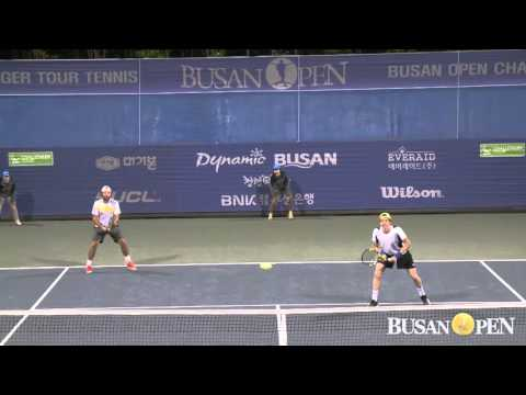2016 부산오픈 Sam GROTH (AUS), Leander PAES (IND) VS Matt REID (AUS), John Patrick SMITH (AUS)