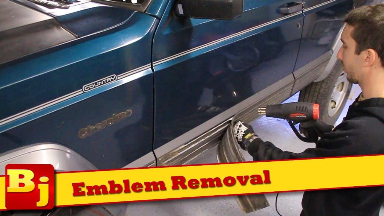 Emblem Removal