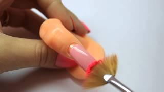 простой горизонтальный градиент на ногтях / пигмент / гель лак / шеллак