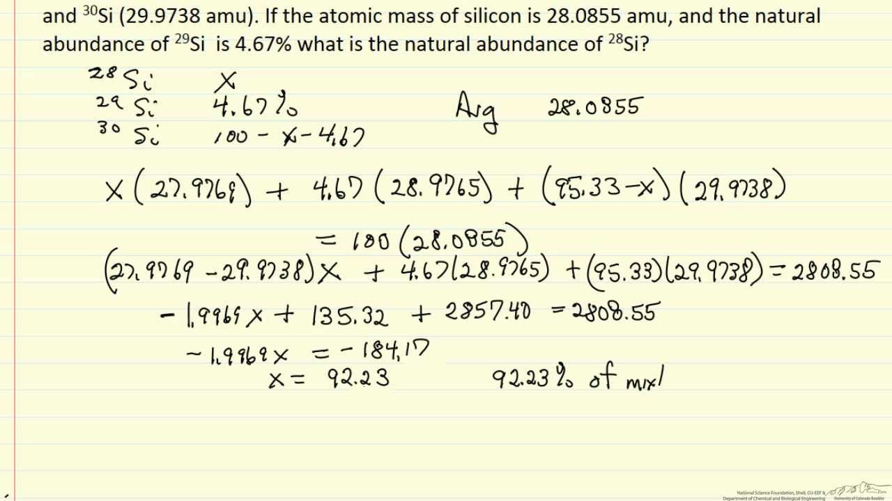How To Find Percentage Abundance Of Isotopes By Aaron Allston 3 Isotope  Percent Problem Isotopeposition (example)