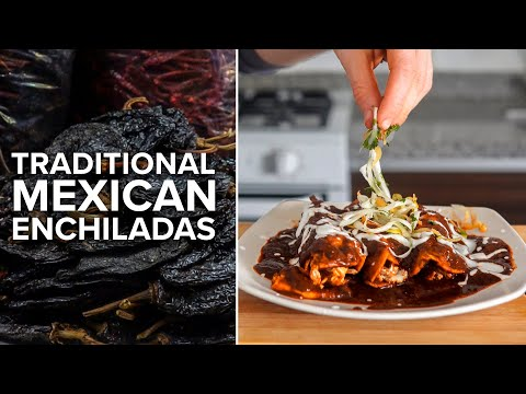 Enchiladas Are Made Differently Down In Mexico | Enchiladas Rojas