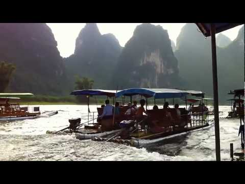 Boating near YangShuo, GuangXi province, China