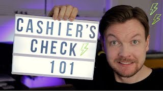 What is a Cashier's Check / Cashiers Check vs Money Order / Cashier's Check vs Personal Check