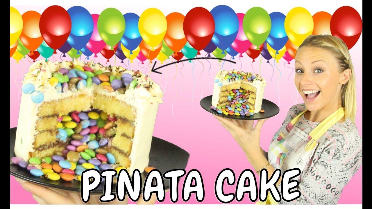 Un g teau surprise recette pinata cake youtube - Gateau surprise facile ...