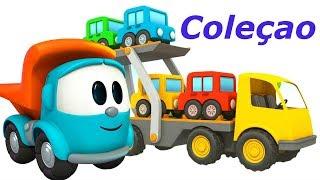 Coleção. Léo o caminhão curioso. Carros e caminhões inf...