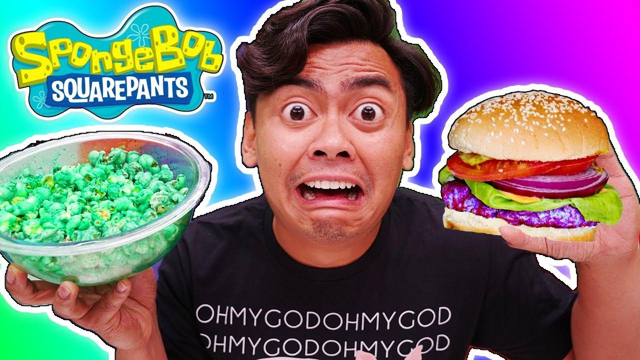 I Only Ate SPONGEBOB FOODS for 24 Hours